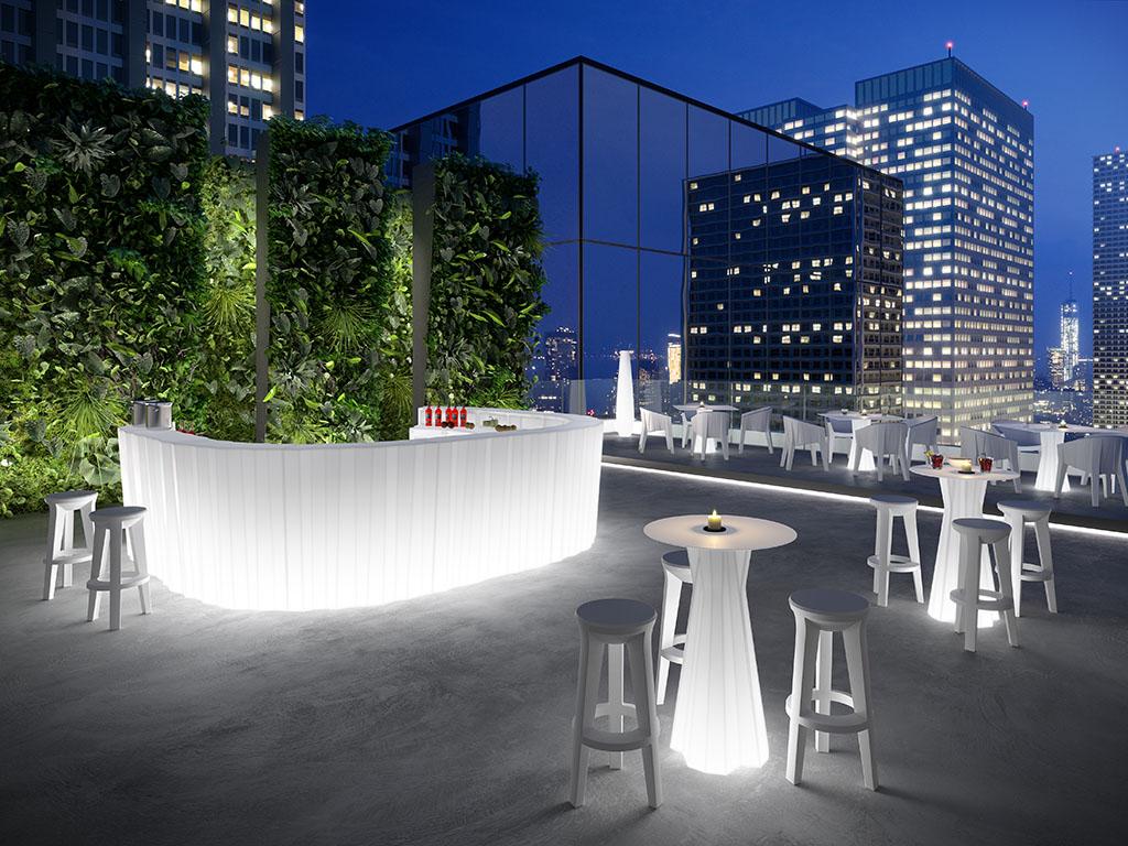 Bancone Bar Da Giardino banco bar da esterno luminoso in polietilene. r.g.service